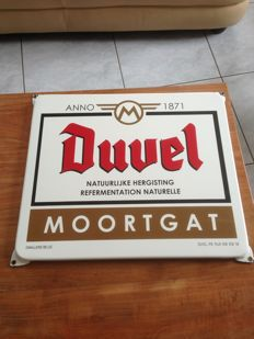 Duvel Emaille Reclamebord