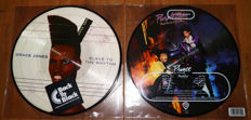 Great lot of 2 80's classics, both limited edition picture disc releases: Grace Jones- Slave To The Rhythm & Prince- Purple Rain
