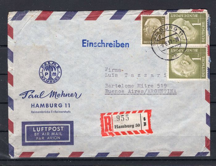 Postal used, Allied occupation, Berlin and Federation