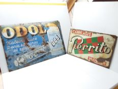 old enamel signs for perrito odol - Belgium - 1955 1935.
