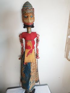 Giant wayang golek (approx. 1.10 m) depicting a giant - Java - Indonesia - late 20th century