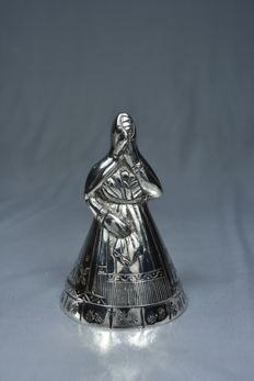 Silver serving bell, made in South America, early 20th century