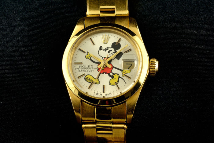 rolex oyster perpetual mickey mouse damen 1970 1979 catawiki. Black Bedroom Furniture Sets. Home Design Ideas
