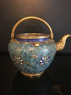 Cloisonné teapot - China - End of the 20th century