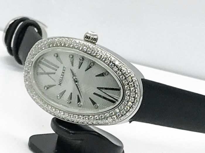 Milleret - Stainless steel with pave diamonds Bezel  - 1000D11D565-AA4 ladies watch - Femme - 2011-aujourd'hui