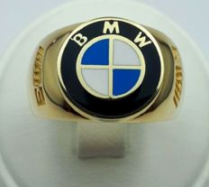 14/585 Ct Yellow Gold  BMW Ring, Size 20.00mm, Total 6.85g