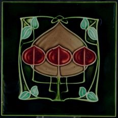 H. Richards - Art Nouveau tile