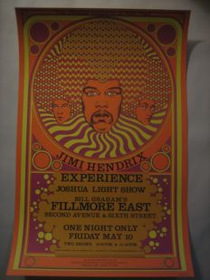 Jimi Hendrix Experience at the Fillmore East New York 1968 by David Byrd