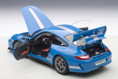 Autoart - Scale 1/18 - Porsche 911 (997) GT3 RS 4.0 - Colour Blue