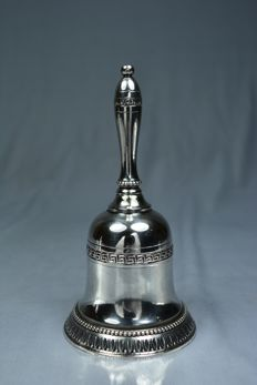 Silver serving bell, made in Italy circa 1930
