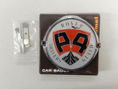 Vintage Original New in Box 1970's Rover P4 Register Club Car Badge Auto Emblem by Renamel 9 cm wide