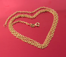 18k/750 Yellow Gold Necklace - Force-  55 cm - 6.98 g ///No Reserve Price///