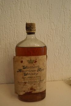 Walker's American Rye Whisky - Bought during Second World War (1925 on stopper)