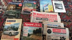 L'auto journal / L'automobile and other newspapers / magazines - 1953/1960