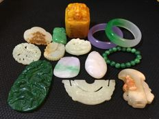 A collection of mineral stones (14)