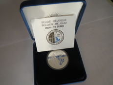 Belgium - 10 Euro 2008 'Maeterlinck' in case - silver