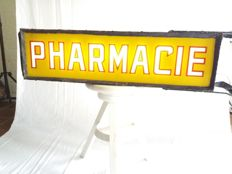 Double-sided illuminated advertising sign for a pharmacy 'Pharmacy', from the 40s