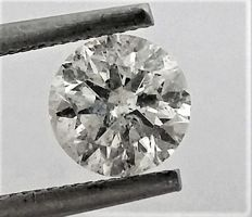 Diamond of  1.19 carat , E color , SI2 clarity , Big AIG certificate + Laser Inscription on Girdle , 3 x EX .