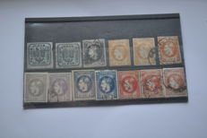 Romania 1862/1872- a classic collection on stock cards