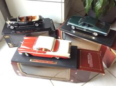 Road Legends - Scale 1/24-1/18 - Lot of 3 models: Chevrolet Bel Air 1956, Plymouth Barracuda 1969 & Presidential Cadillac V16