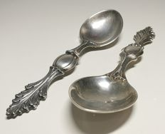 Pair of 925 Silver Spoons - Buccellati, Milan, 20th century
