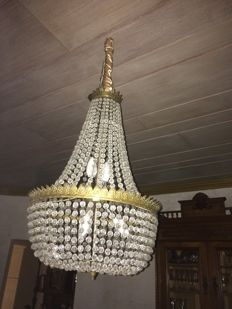 Crystal chandelier - mid 20th century