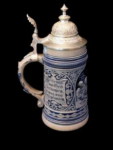 Westerwald - Beer stein in stoneware - 20th century
