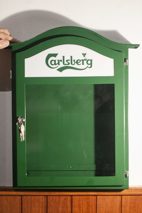 Carlsberg illuminated menu cabinet - 1990