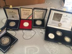 Italy - Lot of silver commemorative coins (7 coins) - Silver