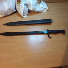 Original German saw back bayonet m1898 Erfurt