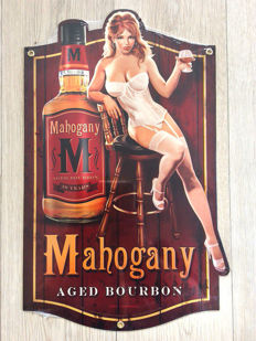 "Plate for old Whisky Bourbon ""Pin Up"" by Greg Hildebrandt 2012"