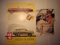 Brochures of Borgward and Mercedes