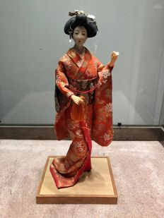 Very beautiful and large Ningyo, Geisha doll - Japan - circa 1970 (37 cm)