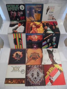 Beautiful Lot of - 14 Albums & 1 Maxi - 17 Records - In Reggae - Hip-Hop - Rapp - Soul & Funk - Public Enemy - Michael Jackson - Ike & Tina Tur-