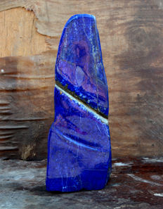 Hand-made Polished Top Quality Lapis Lazuli tumble -  295 x 100 x 50 mm - 3.20 kg