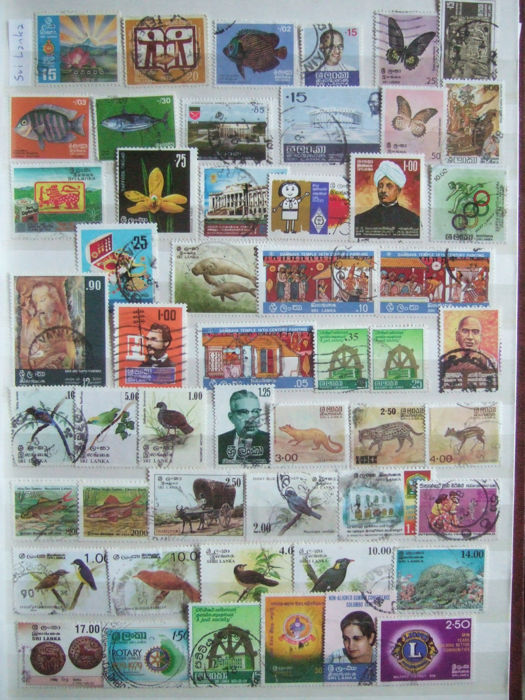 East and South Asia - i.e., +/- 1,200 stamps and 5 blocks