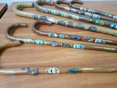 Praise of 7 walking sticks with stickers