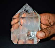 Crystal Rock Arkansas Quartz Crystal Point - 9.5 x 6.5 x 5CM - 400 gm
