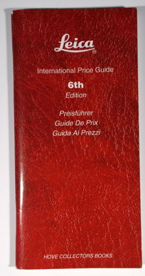 LEICA International Price Guide/ 6th Edition Preisfuhrer / cameras / lenses and accessories / ISBN 1874707-22-7
