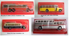 Ixo-Atlas - Scale 1/43 - Lot with 4 models: Saurer L4C, Citroen T45, Mercedes O 10000 and Pegaso Z-403