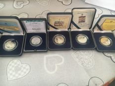 Italy - Lot of silver commemorative coins (5 coins) - Silver