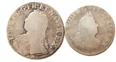 France - lot of 2 coins (Louis XIV & Louis XV) - silver