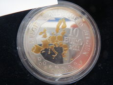 Belgium - 10 Euro 2011 'Invention of the bathyscaphe' in case - silver