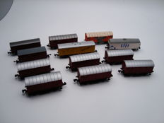 Arnold/Fleischmann/Roco and Others N - 12x Mixed Goods Wagons