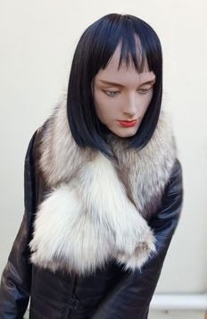 Arctic fox fur scarf - No Minimum Price