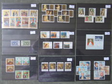 World - Batch of stamps on 436 cards