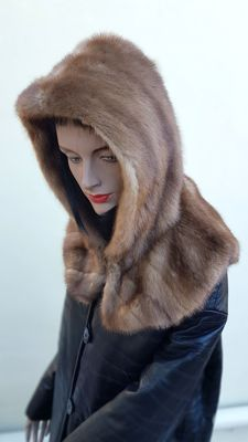 Hood, mink fur hat - NO MINIMUM PRICE / Made in Italy