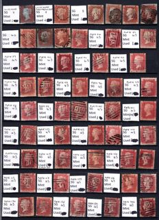 Great Britain 1840/1890's - Large collection Queen Victoria Stamps.