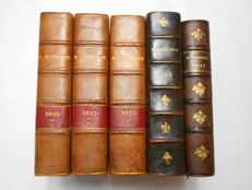 Henri Houssaye - 1814 & 1815 - 5 volumes - 1894/1912