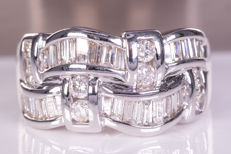 1.94 Ct magnificent diamond ring - Size: 57 - No Reserve price!